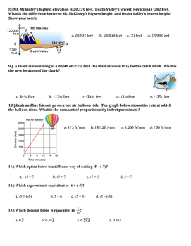 7th Grade Mid term Exam ~ Or multiple choice review