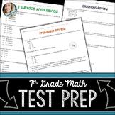 7th Grade Math Test Prep