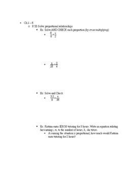 7th Grade Midterm Study Guide
