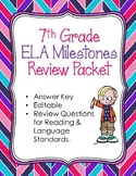 7th Grade Milestone Review WITH ANSWERS Using CCGPS