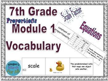 7th Grade Module 1 Engage NY/Eureka Math - SBAC - Vocabulary - Editable