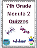 7th Grade Module 2 Quizzes for Topics A to C - Editable