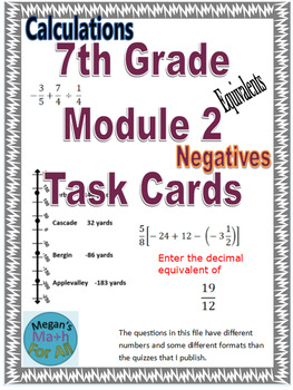 7th Grade Module 2 Task Cards - SBAC - Editable