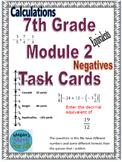 7th Grade Module 2 Task Cards - SBAC - Editable