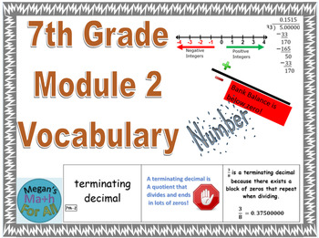 7th Grade Module 2 Vocabulary - SBAC - Editable