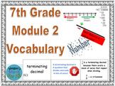 7th Grade Module 2 Vocabulary - SBAC - Editable