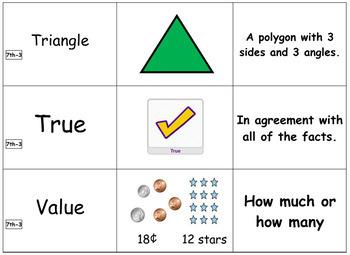 7th Grade Module 3 Vocabulary - Engage NY/Eureka Math - SBAC - Editable