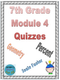 7th Grade Module 4 Quizzes for Topics A to D - Editable