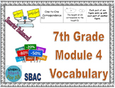 7th Grade Module 4 Vocabulary - Engage NY/Eureka Math - SBAC - Editable