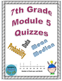 7th Grade Module 5 Quizzes for Topics A to D - Editable