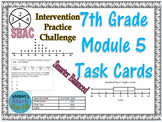 7th Grade Module 5 Task Cards - Stats and Prob - Editable - SBAC