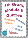 7th Grade Module 6 Quizzes for Topics A to E - Editable