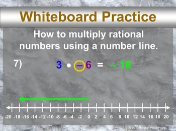 (7th) Multiplying Integers in a PowerPoint Presentation
