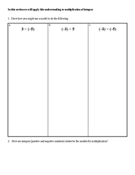 7th Grade Multipy and Divide Integers Unit Resources