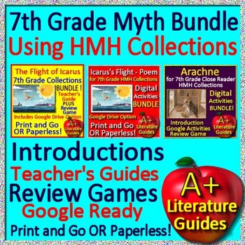 Arachne and Icarus Literature Myth Bundle 7th Grade HMH Collections Google Ready