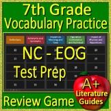 7th Grade NC - EOG Test Prep Vocabulary Practice Review Game North Carolina