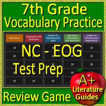 NC - EOG Test Prep 7th Grade Vocabulary Practice Review Game North Carolina