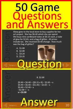 7th Grade NWEA MAP Math Test Prep Bundle Tests and Games - RIT Bands 231 - 250
