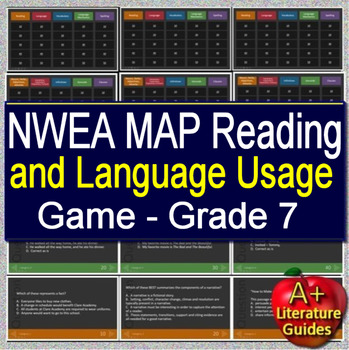 7th Grade NWEA MAP Test Prep Reading and Language Usage Skills Game #1