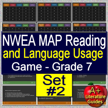 7th Grade NWEA MAP Test Prep Reading and Language Usage Skills Game #2