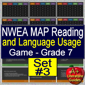 7th Grade NWEA MAP Test Prep Reading and Language Usage Skills Game #3