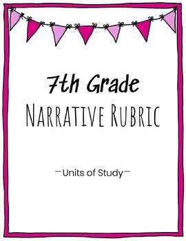 7th Grade Narrative Writing Rubric