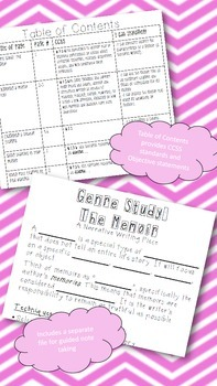 7th Grade CCSS Narrative Writing Unit (Writer's Notebook)