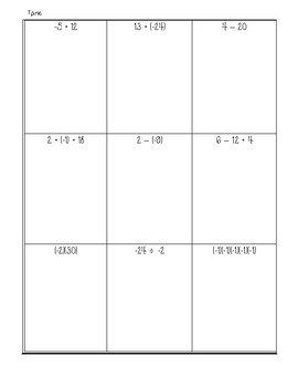 7th Grade Number Sense Review