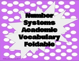7th Grade Number System Vocabulary Foldable