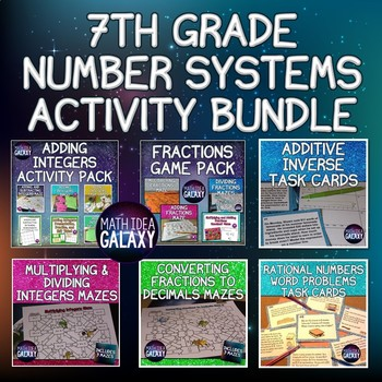 7th Grade Number Systems Activity Bundle