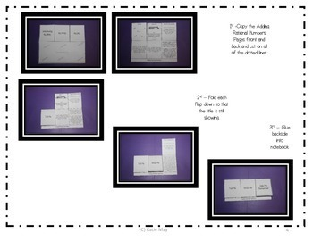 7th Grade Number Systems Foldable Bundle Aligned to 7.NS.1, 7.NS.2, and 7.NS.3