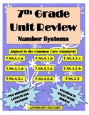 7th Grade Number Systems Review- Stations or Study Guide Format