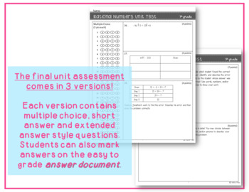 7th Grade Number Systems Unit Test