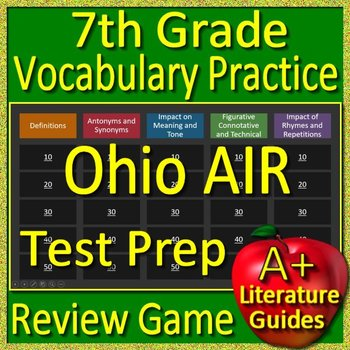 7th Grade Ohio State Test Air Prep Vocabulary Practice Review Game - OST