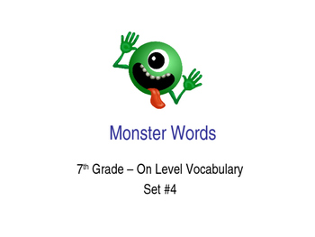 7th Grade On-Level Dolch Words – Set #4 - Special Educatio