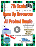 7th Grade Open Up Resources All Product Bundle - Editable - SBAC