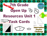 7th Grade Open Up Resources Unit 1 Task Cards - Editable - SBAC