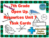 7th Grade Open Up Resources Unit 7 Task Cards - Editable - SBAC