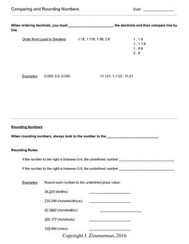 7th Grade - Operational Mathematics Unit