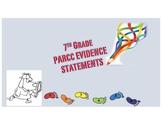 7th Grade PARCC Evidence Statements Check List