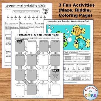 PROBABILITY BUNDLE - Task Cards, Error Analysis, Word Problem Solving, Puzzles