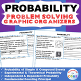 PROBABILITY WORD PROBLEMS with Graphic Organizer