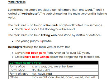 7th Grade: Part 1 Sentence and Its Parts--Grammar Wired!