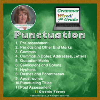 7th Grade: Part 11 Punctuation--Google for Grammar