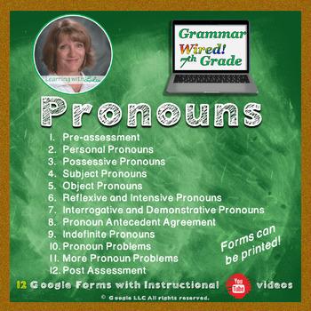 7th Grade: Part 3 Pronouns--Grammar Wired!