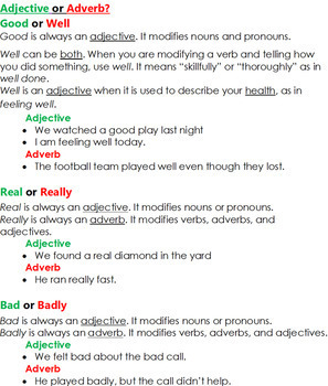 7th Grade Part 5 Adjectives And Adverbs Grammar Wired By Learning With Lulu
