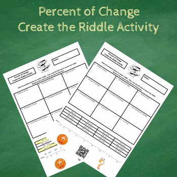 7th Grade Percent of Change Create the Riddle Activity