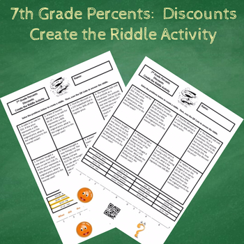 7th Grade Percents:  Discounts Create the Riddle Activity