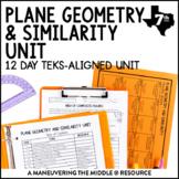 7th Grade Plane Geometry & Similarity Unit: TEKS 7.5A, 7.5B, 7.5C, 7.8C, 7.9B