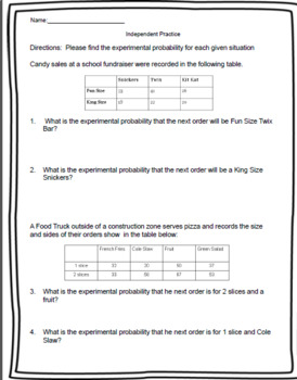 7th Grade - Probability Bundle - 9 Lessons with over 300 pages